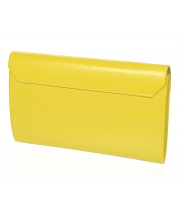 Žltá matná spoločenská kabelka SP102 - Grosso