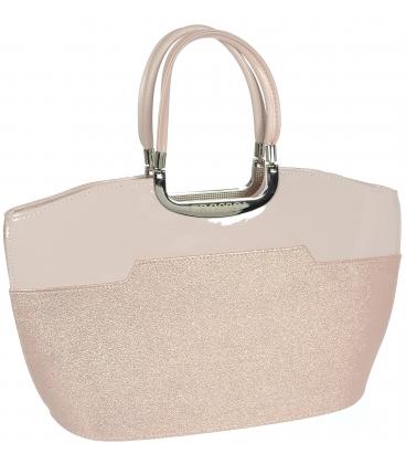 Růžová třpytivá elegantní kabelka V18SM084 - GROSSO
