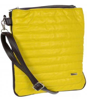Žluto-hnědá crossbody taška s prošíváním M188 - Grosso