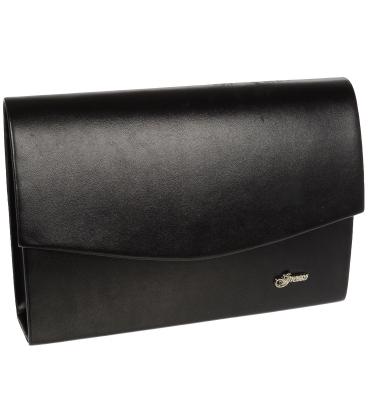 Černá společenská kabelka 19SP001- Grosso
