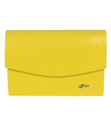 Žltá spoločenská kabelka 19SP001- Grosso