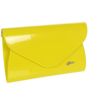 Sárga lakkozott elegáns borítéktáska S18SM004YEL - GROSSO