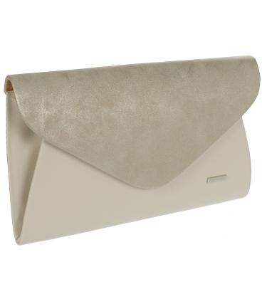 Béžová listová kabelka S18SM004BEI - GROSSO