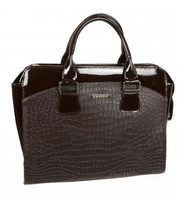 Čierna taška na notebook s ozdobným prešívaním ST01