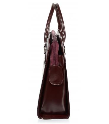 Bordovo-čierna elegantná taška na notebook ST01