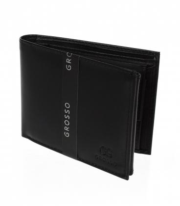 Pánska čierna obĺžniková peňaženka TM 34R-123A