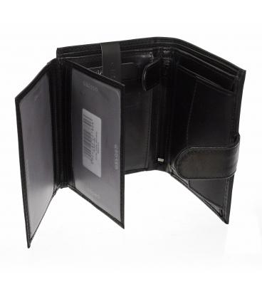 Pánská kožená černá peněženka TM-34R-251 BLACK