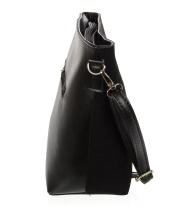 Čierna crossbody kabelka C18SM062 - GROSSO