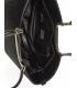 Čierna matná elegantná vystužená kabelka so vzorom V18SM002 - GROSSO