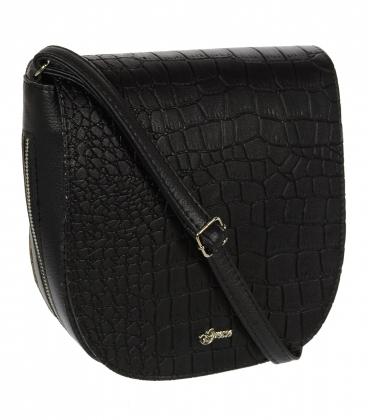 Čierna crossbody kabelka s jemným vzorom C18SM067 - Grosso