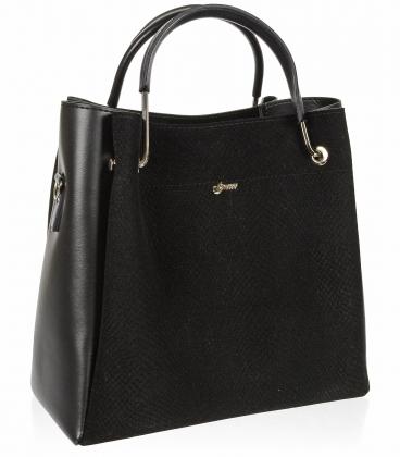 Černá elegantní kabelka V18SM085BLC - GROSSO