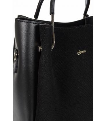 Čiernaelegantná kabelka s jemný vzorom V18SM085BLC - GROSSO