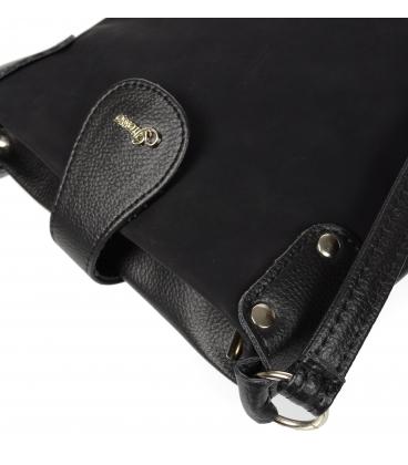 Modrá oblá crossbody kabelka se zlatými tečkami C18SM011BLU - Grosso