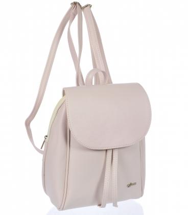 Púder rózsaszín praktikus hátizsák 20B001
