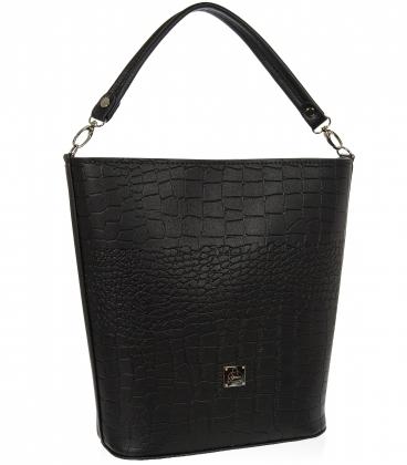 Černá elegantní kabelka V18SM101- GROSSO