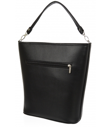 Čierna elegantná kabelka V18SM101- GROSSO