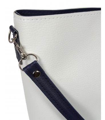Bílo- modrá větší crossbody kabelka s jemným vzorem C18SM067 - Grosso