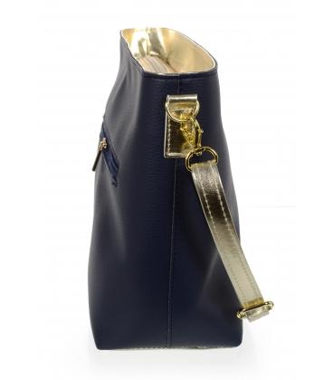 Modro-zlatá větší crossbody kabelka C18SM067 - Grosso