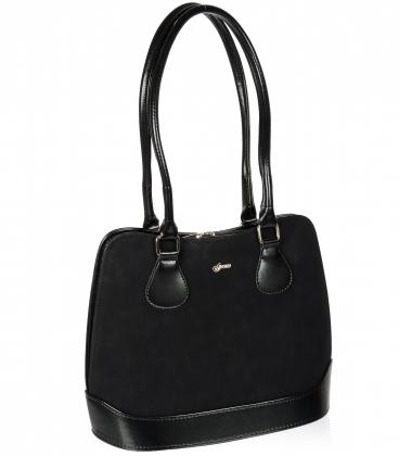 Čierna obdlžniková kabelka s dlhými ramienkami 19V020- Grosso