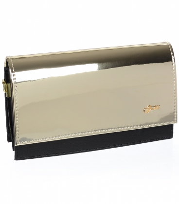 Černo zlatá společenská kabelka C18SM008