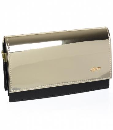Fekete arany alkalmi táska C18SM008