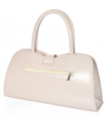 Ružová obdlžniková elegantná kabelka s jemným vzorom 19V021- Grosso