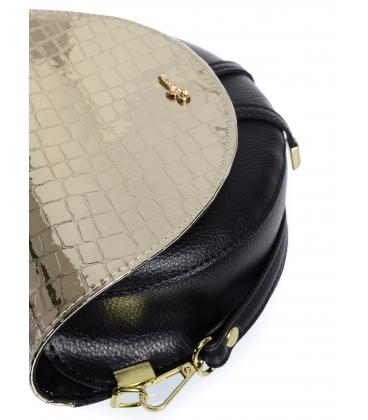 Fekete Arany kis, elegáns kézitáska finom mintával 20M007