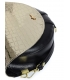 Černe zlatá malá elegantní kabelka s jemným vzorem 20M007