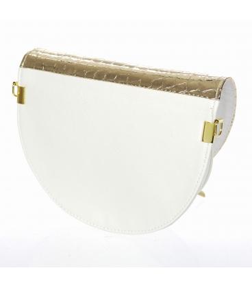 Bílo zlatá malá elegantní kabelka 20M007
