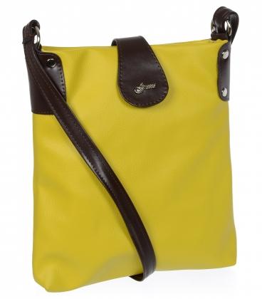 Žluto-hnědá crossbody taška M188 - Grosso
