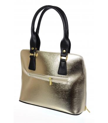 Zlatá elegantná kabelka s kroko potlačou 20V001