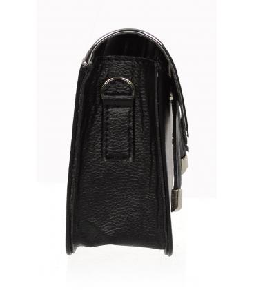 Čierno zlatá crossbody kabelka so zlatými doplnkami 20M004