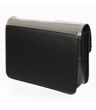 Černo zlatá crossbody kabelka se zlatými doplňky 20M004
