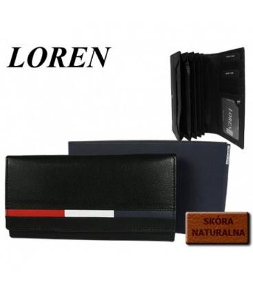Női bőr fekete pénztárca AD-21-210 BLACK