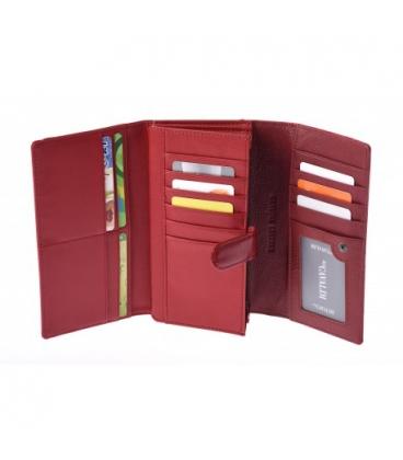 Dámska červená elegantná peňaženka s potlačou PN27-LF Red