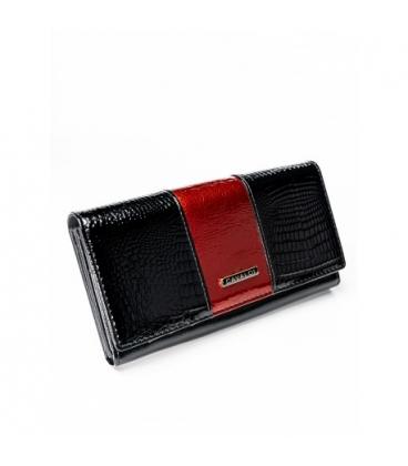 Dámská černá lakovaná peněženka H20-1-SH Black