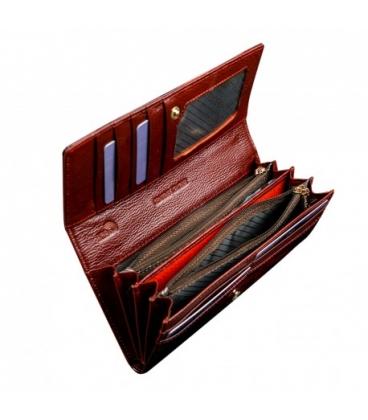 Női piros elegáns pénztárca nyomtatott formában PN27-LF Red
