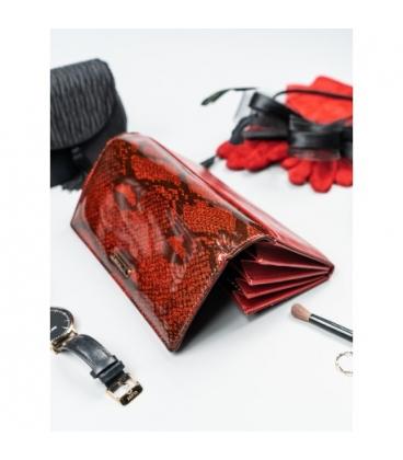 Női vörös lakkozott pénztárca nyomtatott formában PN26-YM Red