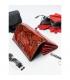 Dámska červená lakovaná peňaženka s potlačou PN26-YM Red