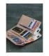 Dámska abstraktná kožená peňaženka M-N19-ART-07-Black