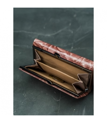 Női absztrakt bőr pénztárca M-N19-ART-07-Black