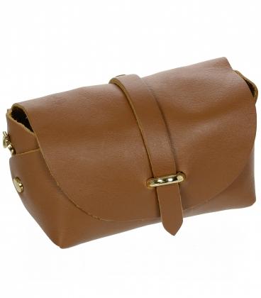 Kis barna elegáns bőr táska KM013 arany lánccal OLIVIA BAG