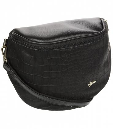 Čierna crossbody kabelka s jemným vzorom 20M006