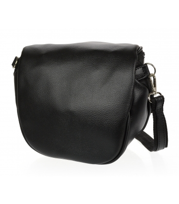 Černá crossbody kabelka s jemným vzorem 20M006