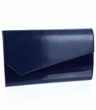 Modrá lakovaná listová kabelka S18SL002blue