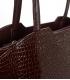 Nagybarna kézitáska lépcsős mintával és hosszú fogantyúkkal 19V014blck- Grosso