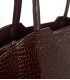 Veľká hnedá kabelka s kroko vzorom a dlhými rúčkami 19V014brwn- Grosso