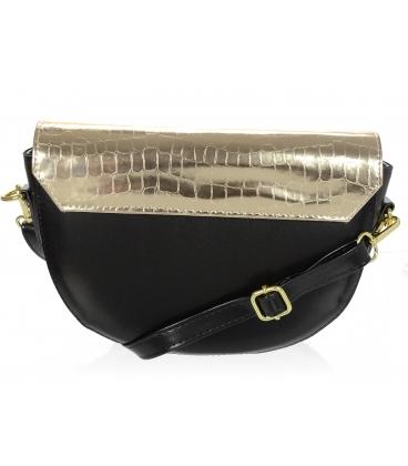 Čierno zlatá malá vzorovaná kabelka 20M007gold