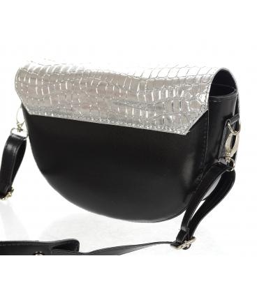 Černo stříbrná malá vzorovaná kabelka 20M007silver