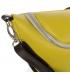 Žltá crossbody ladvinka s hnedým lemom 20M008